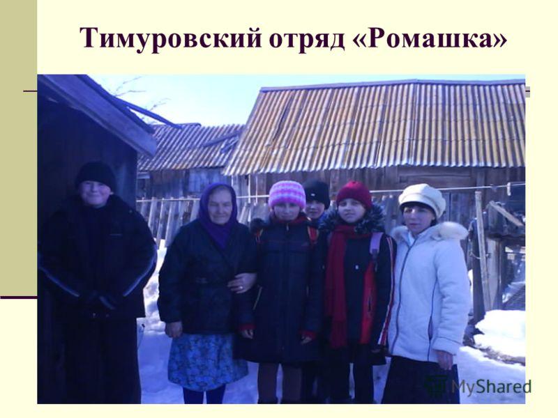 Тимуровский отряд «Ромашка»