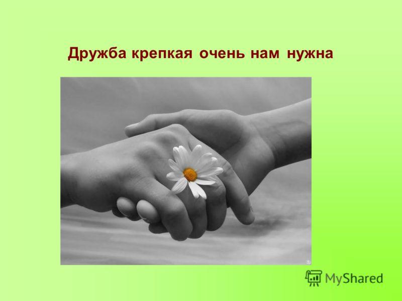 Дружба крепкая очень нам нужна