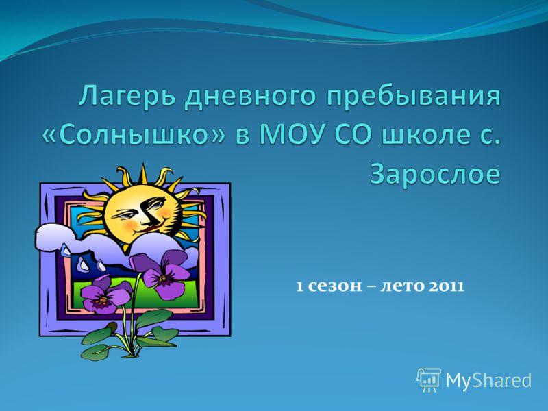 1 сезон – лето 2011