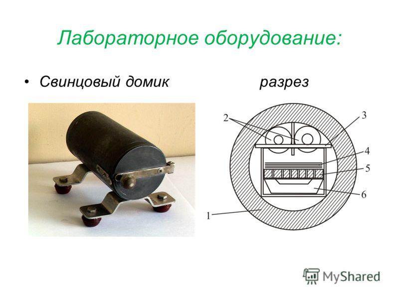 Лабораторное оборудование: Свинцовый домик разрез