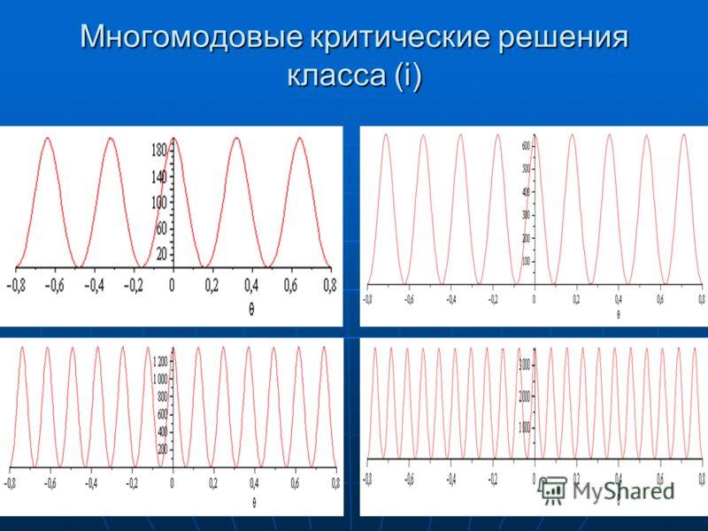 Многомодовые критические решения класса (i)