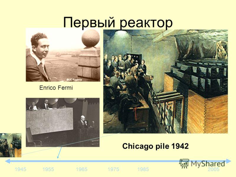 195519651975198520051945 Enrico Fermi Первый реактор Chicago pile 1942