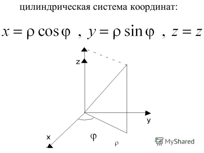 цилиндрическая система координат: