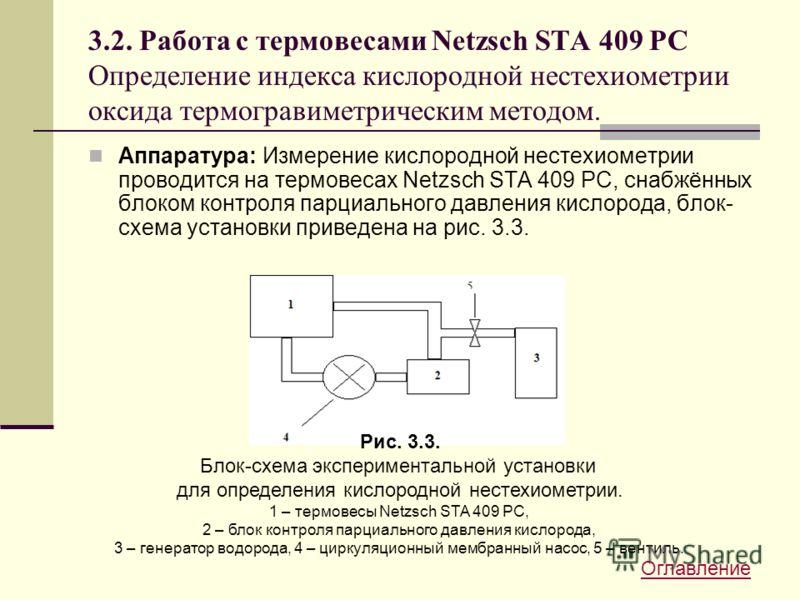 3.2. Работа с термовесами Netzsch STA 409 PC Определение индекса кислородной нестехиометрии оксида термогравиметрическим методом. Аппаратура: Измерение кислородной нестехиометрии проводится на термовесах Netzsch STA 409 PC, снабжённых блоком контроля