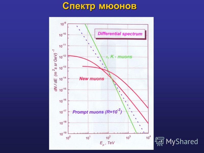 Спектр мюонов
