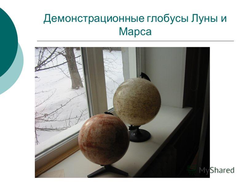 Демонстрационные глобусы Луны и Марса