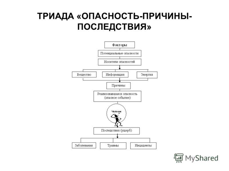 ТРИАДА «ОПАСНОСТЬ-ПРИЧИНЫ- ПОСЛЕДСТВИЯ»