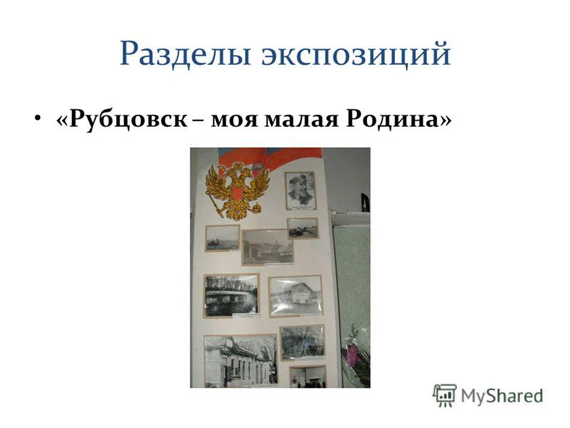 Разделы экспозиций «Рубцовск – моя малая Родина»