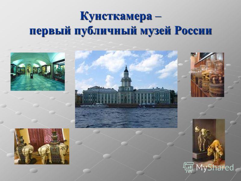 Кунсткамера – первый публичный музей России