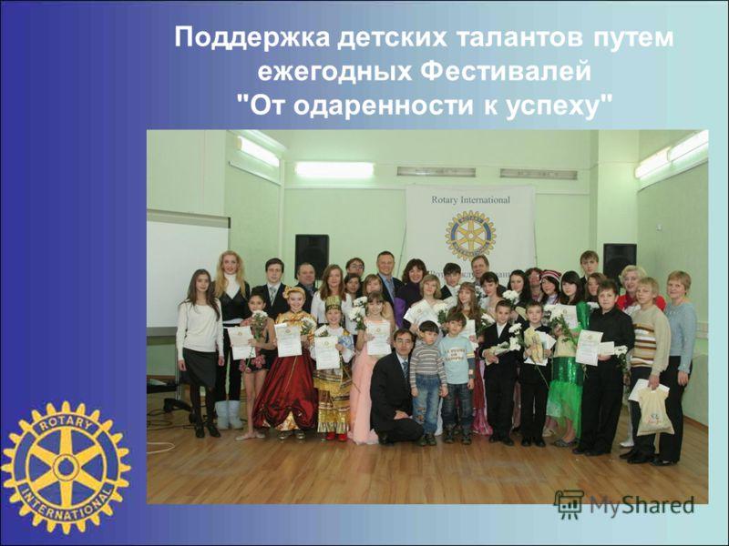 Поддержка детских талантов путем ежегодных Фестивалей От одаренности к успеху