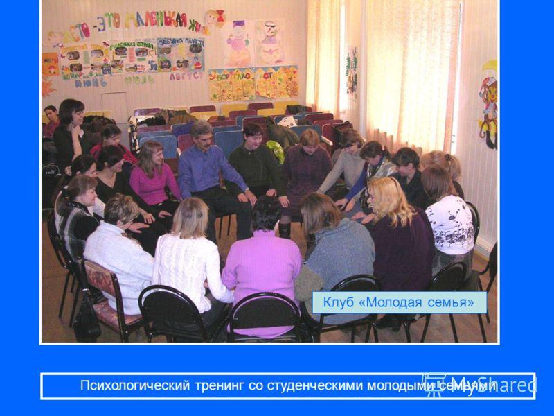 Психологический тренинг со студенческими молодыми семьями Клуб «Молодая семья»