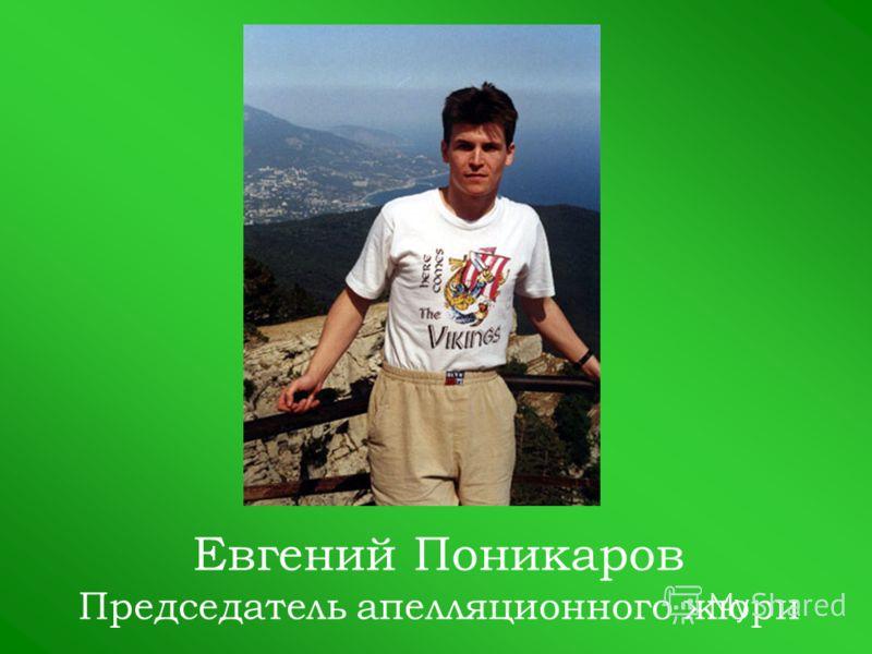 Евгений Поникаров Председатель апелляционного жюри