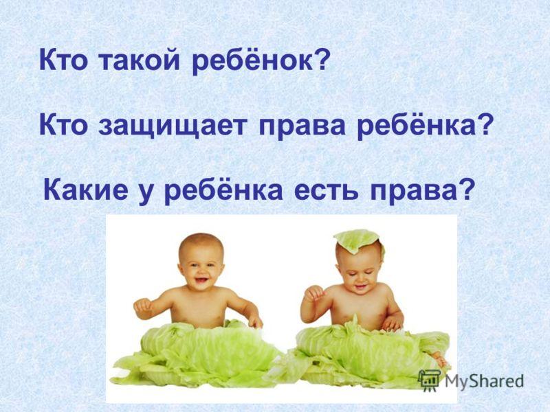 Кто такой ребёнок? Кто защищает права ребёнка? Какие у ребёнка есть права?