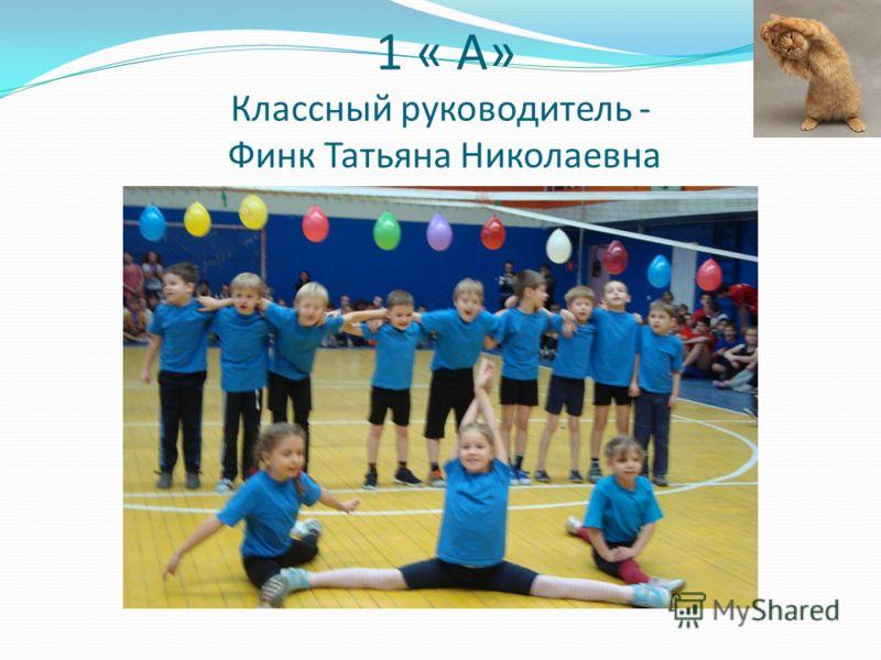 1 « А» Классный руководитель - Финк Татьяна Николаевна