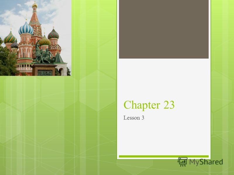 Chapter 23 Lesson 3