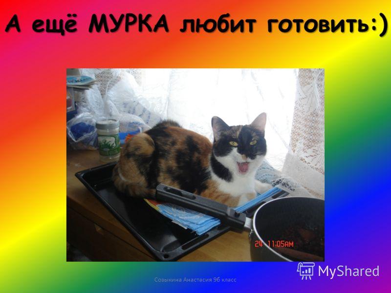 Созыкина Анастасия 9б класс А ещё МУРКА любит готовить:)