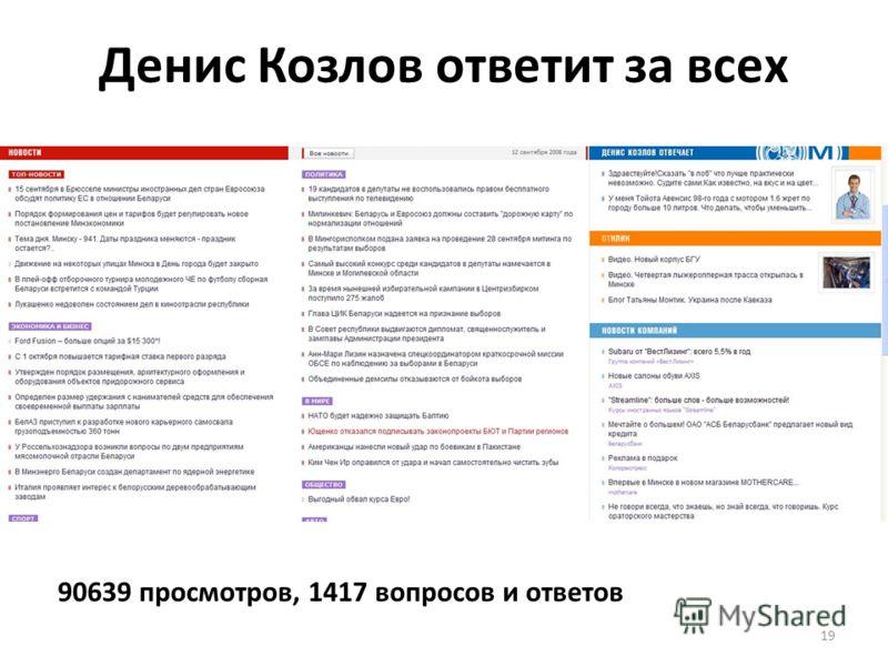 19 Денис Козлов ответит за всех 90639 просмотров, 1417 вопросов и ответов
