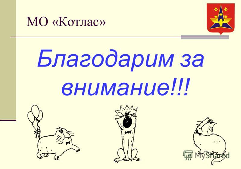 МО «Котлас» Благодарим за внимание!!!