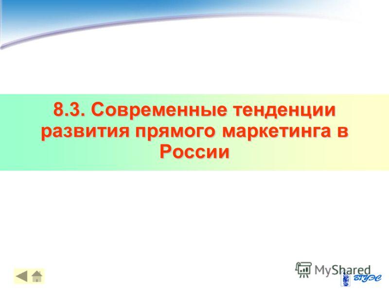 8.3. Современные тенденции развития прямого маркетинга в России 10