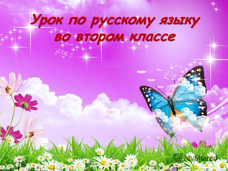 Урок по русскому языку во втором классе