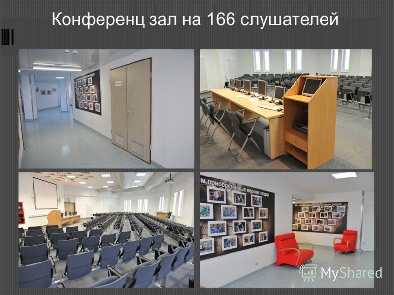 Конференц зал на 166 слушателей
