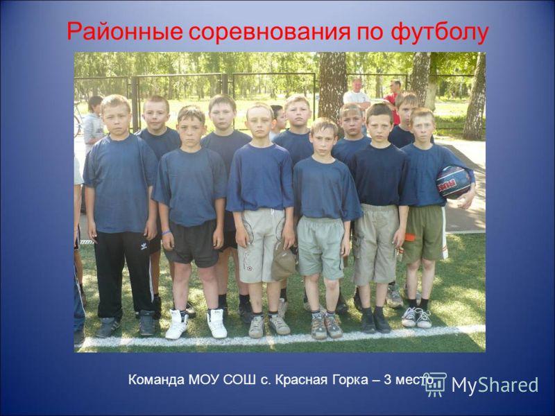 Районные соревнования по футболу Команда МОУ СОШ с. Красная Горка – 3 место