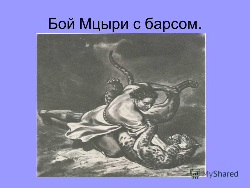 Бой Мцыри с барсом.