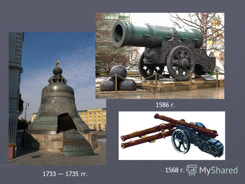 1733 1735 гг. 1586 г. 1568 г.