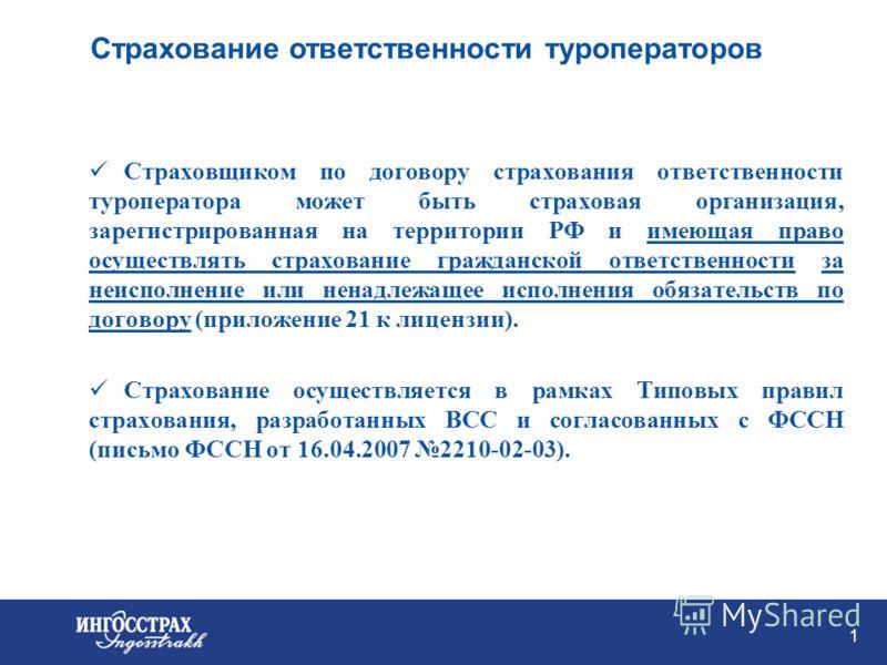 Страхование ответственности туроператоров Мелёхин Дмитрий ОСАО «Ингосстрах» 20 сентября 2007
