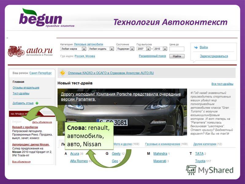 Слова: renault, автомобиль, авто, Nissan Технология Автоконтекст