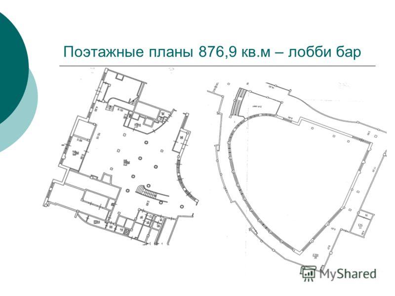 Поэтажные планы 876,9 кв.м – лобби бар