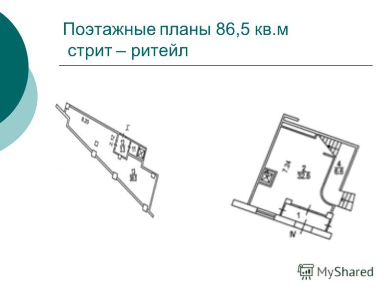 Поэтажные планы 86,5 кв.м стрит – ритейл