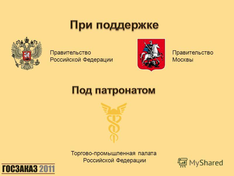 Правительство Российской Федерации Правительство Москвы Торгово-промышленная палата Российской Федерации