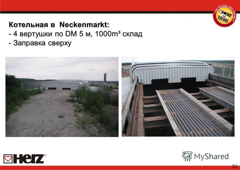 52 Котельная в Neckenmarkt: - 4 вертушки по DM 5 м, 1000m³ склад - Заправка сверху