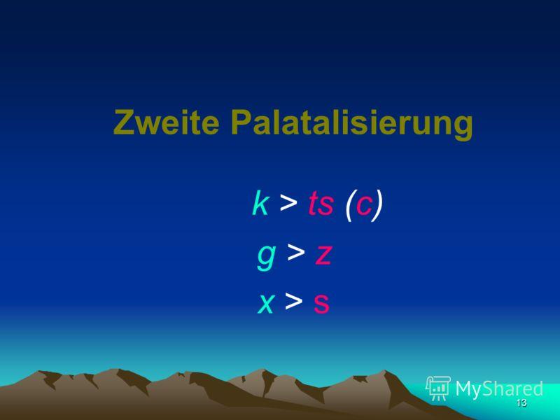 12 k > t (č) g > d > (ž) X (h) > (š)