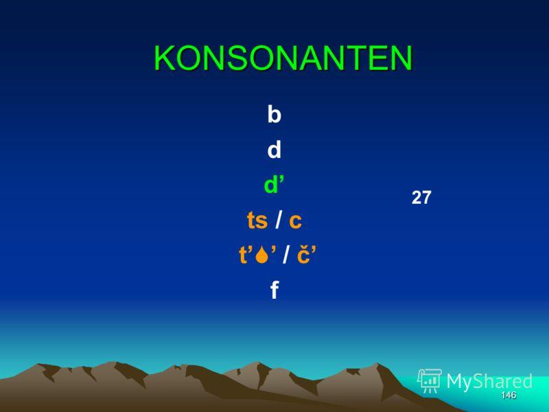 145 VOKALE a o e I u / y (ы) 6