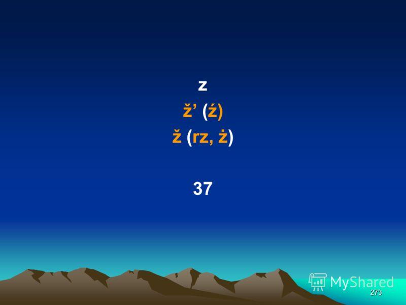 272 / š (sz) t v w