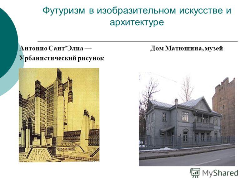 Футуризм в изобразительном искусстве и архитектуре Антонио СантЭлиа Дом Матюшина, музей Урбанистический рисунок