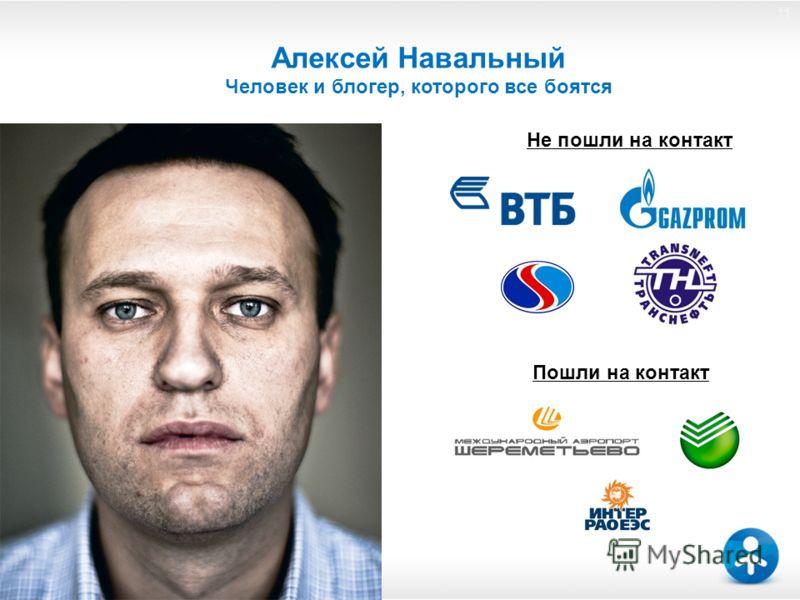 11 Алексей Навальный Человек и блогер, которого все боятся Не пошли на контакт Пошли на контакт 11