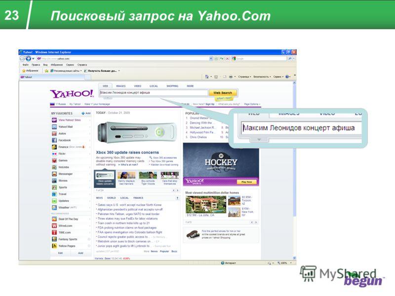 23 Поисковый запрос на Yahoo.Com