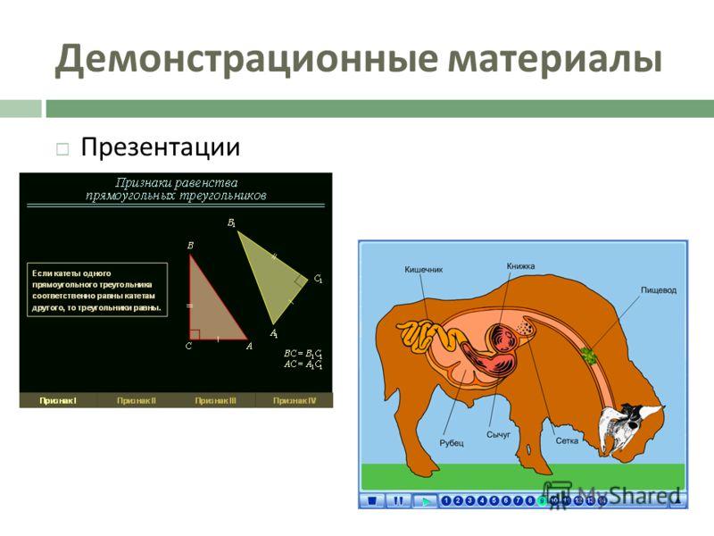 Демонстрационные материалы Презентации