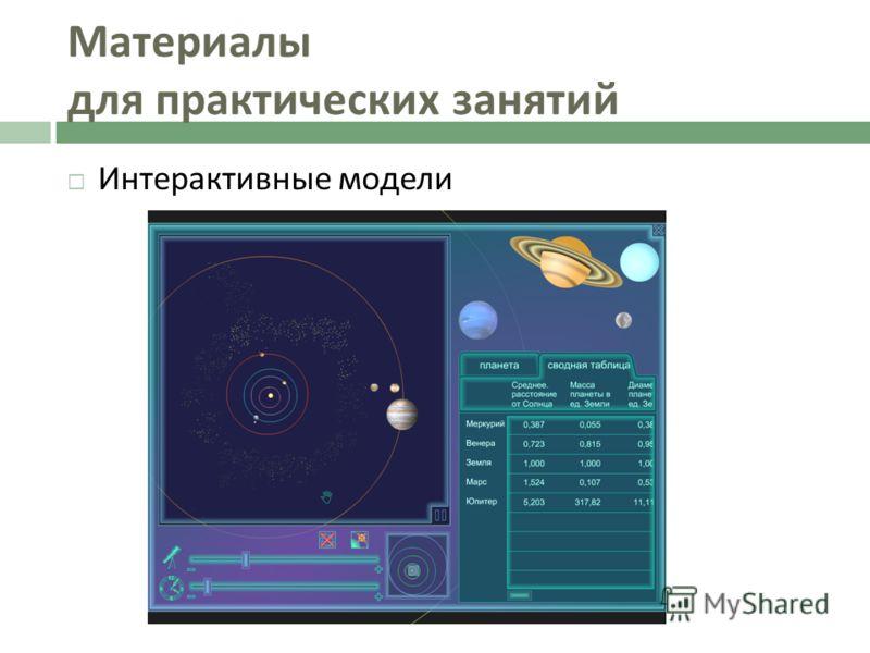 Интерактивные модели