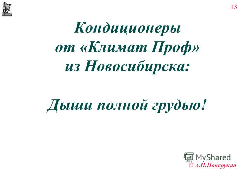 13 © А.П.Панкрухин Кондиционеры от «Климат Проф» из Новосибирска: Дыши полной грудью!