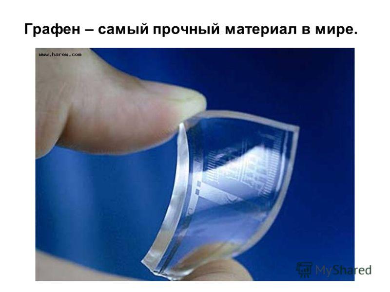 Графен – самый прочный материал в мире.