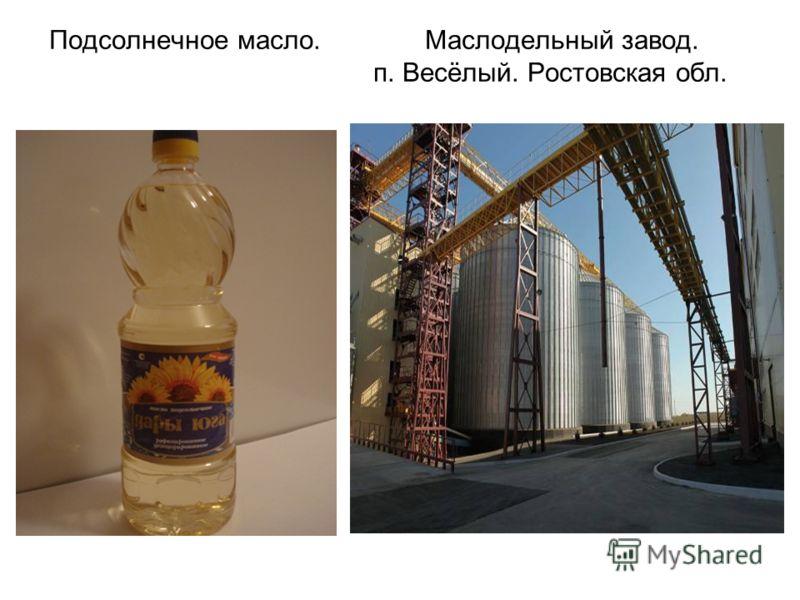 Подсолнечное масло. Маслодельный завод. п. Весёлый. Ростовская обл.