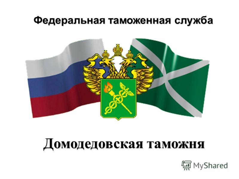 Федеральная таможенная служба Домодедовская таможня