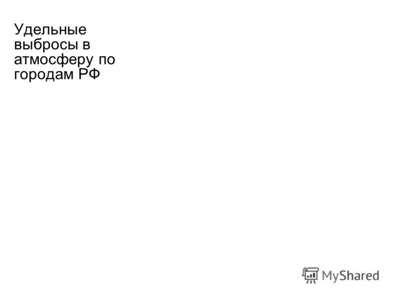 Удельные выбросы в атмосферу по городам РФ