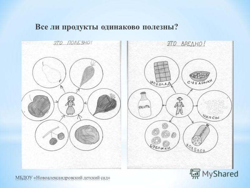 Все ли продукты одинаково полезны?