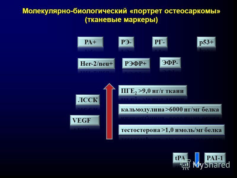 Молекулярно-биологический «портрет остеосаркомы» (тканевые маркеры)