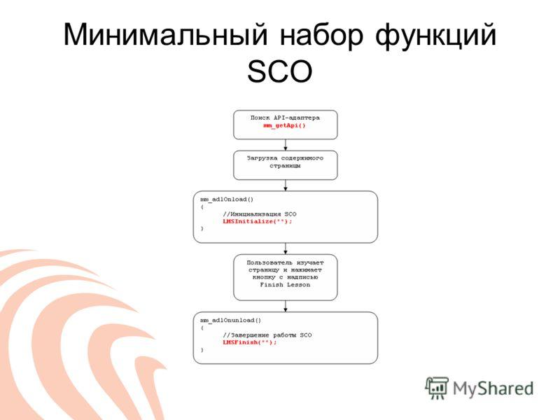Минимальный набор функций SCO